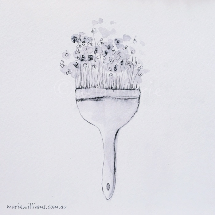 Illustration Gela-Marie Williams. Paintbrush