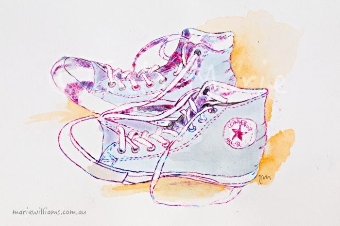 shoe Illustration by Gela-Marie Williams