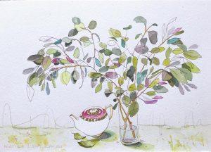 Teapot still life by Gela-Marie Williams